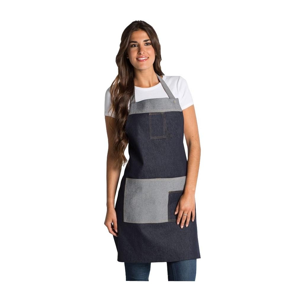 White denim apron - Delantal Tejano Personalizable Delantal Tejano Personalizable
