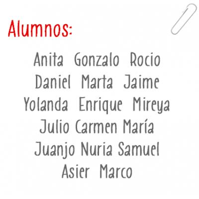 Les noms des élèves