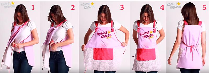 Komsikomsa blouse tablier chasuble